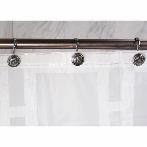 Elegant Home Fashions Bathroom Shower Curtain Hooks Wagon Wheel Chrome HK40158 Perspective: back