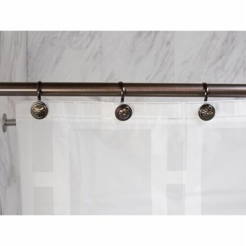 Elegant Home Fashions Bathroom Shower Curtain Hooks Wagon Wheel Bronze HK40160 Perspective: back