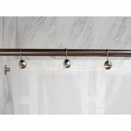 Elegant Home Fashions Bathroom Shower Curtain Hooks Set Brushed Nickel HK40172 Perspective: back
