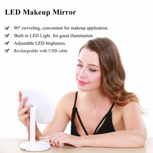 Elegant Home Fashions Bathroom LED Mirror Standing Touch Switch USB TB-1677 Perspective: back