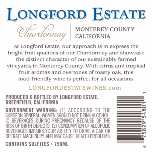Longford Estate Chardonnay Perspective: back