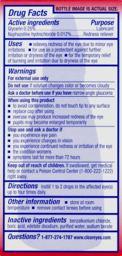 Clear Eyes Redness Relief Eye Drops Perspective: back