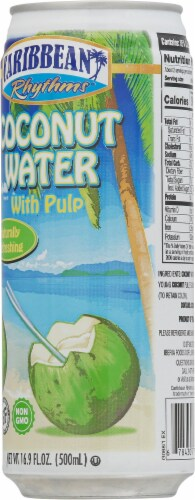 Caribbean Rythms Coconut Water with Pulp Perspective: back