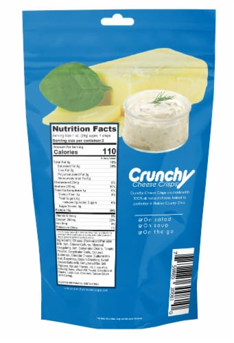 Ranch Crunchy Cheese Crisps, Made with 100% All Natural Cheese, Keto Friendly, Gluten Free Perspective: back