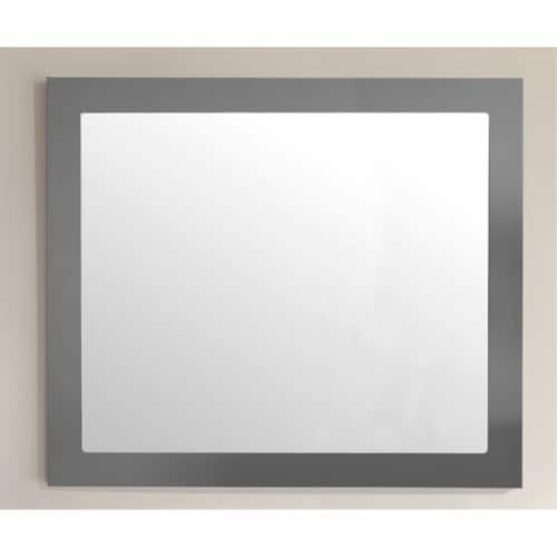 Laviva Sterling 36  Contemporary Wood Fully Framed Bathroom Mirror in Maple Gray Perspective: back