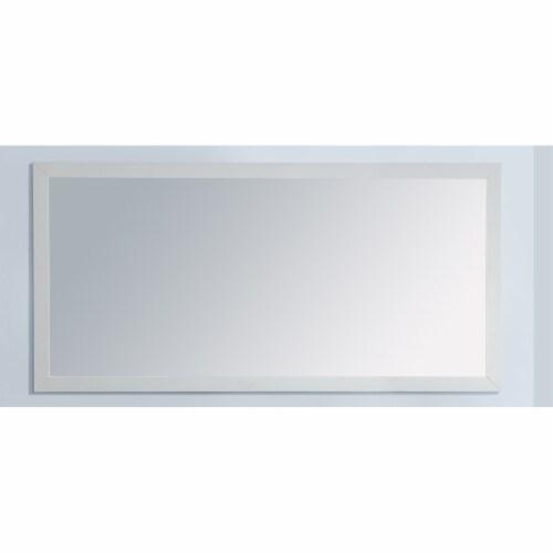 "Fully Framed 60"" White Mirror Perspective: back"