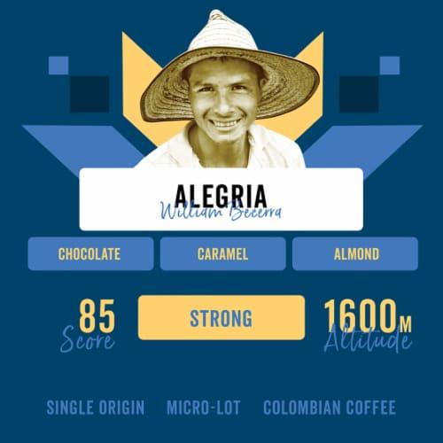 "Progeny Coffee- ""Alegria"" Colombia Single Origin- Dark Roast- Dark Chocolate & Caramel Perspective: back"