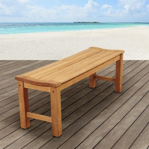 Pemberly Row Outdoor Bench in Brown Perspective: back