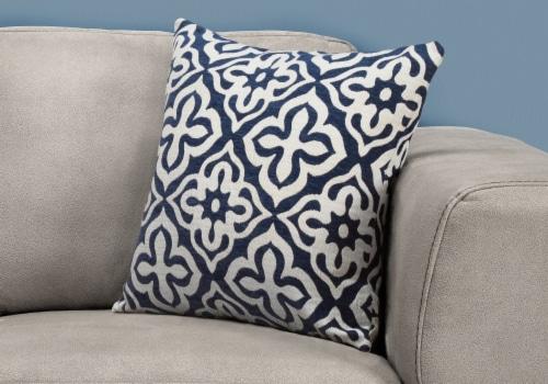 Pillow - 18 X 18  / Dark Blue Motif Design / 1Pc Perspective: back