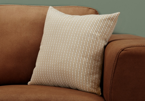 Pillow - 18 X 18  / Light / Dark Taupe Abstract Dot / 1Pc Perspective: back