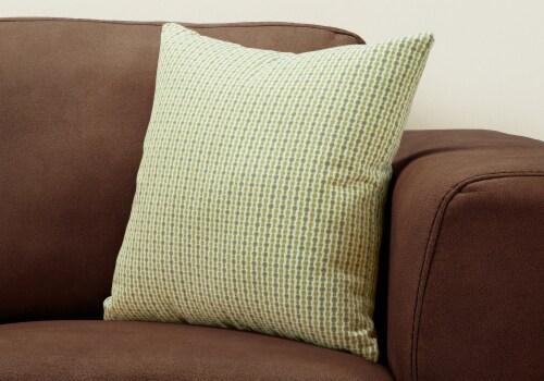 Pillow - 18 X 18  / Light / Dark Green Abstract Dot / 1Pc Perspective: back