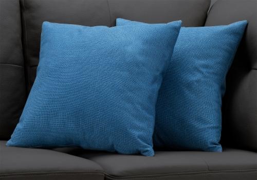 Pillow - 18 X 18  / Patterned Blue / 2Pcs Perspective: back