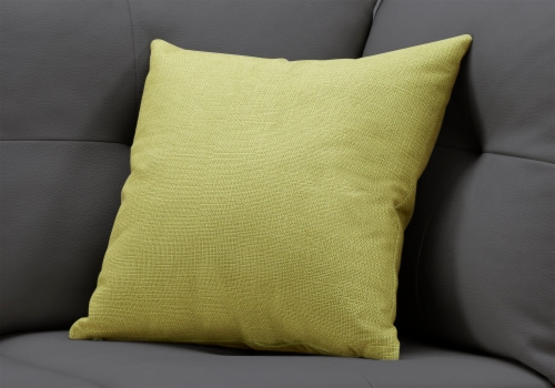 Pillow - 18 X 18  / Patterned Lime Green / 1Pc Perspective: back
