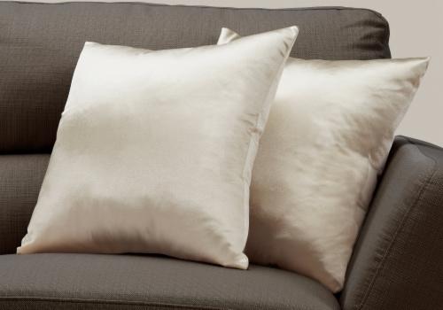 Pillow - 18 X 18  / Gold Satin / 2Pcs Perspective: back