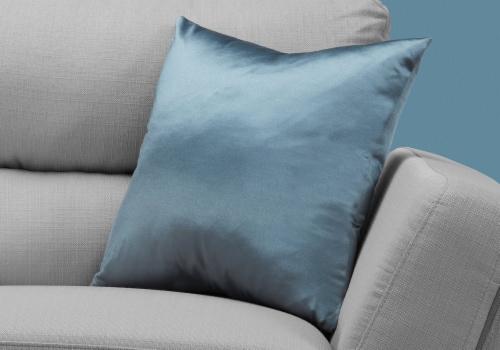 Pillow - 18 X 18  / Pale Blue Satin / 1Pc Perspective: back