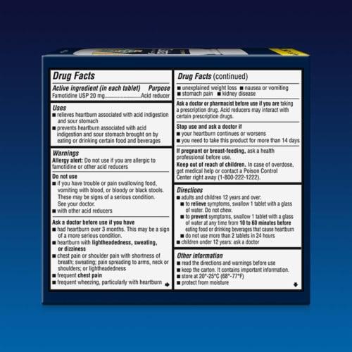 Zantac 360 Maximum Strength Famotidine Tablets 20mg Perspective: back