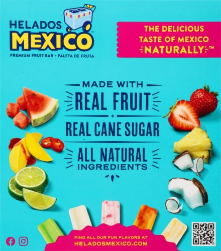 Helados Mexico Refreshers Lime Margarita Paletas Fruit Bars Perspective: back
