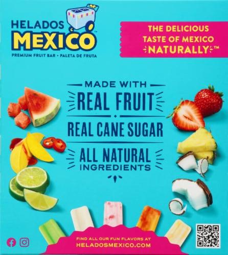 Helados Mexico Refreshers Pina Colada Paletas Fruit Bars Perspective: back
