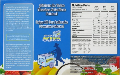 Helados Mexico Mini Ice Cream Bar Variety Pack Perspective: back