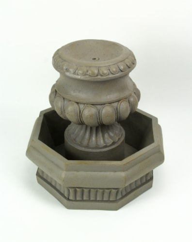 Classic Olive Column Style Tabletop or Garden Fountain With Pump Perspective: back