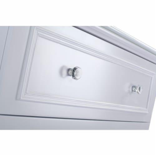 Luna - 30 - White Cabinet Perspective: back