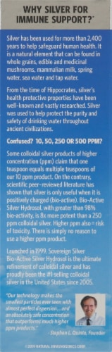 Sovereign Silver Immune Support Fine-Mist Spray Perspective: back