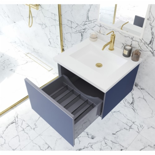 Vitri 24 - Nautical Blue Cabinet Perspective: back