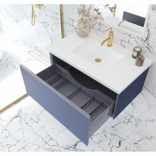 Vitri 36 - Nautical Blue Cabinet Perspective: back