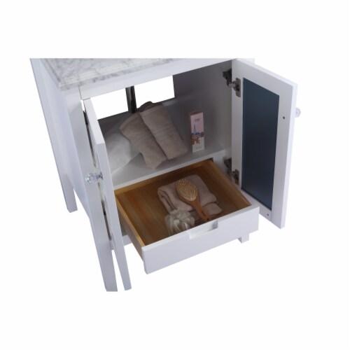 Mediterraneo - 24 - White Cabinet + Matte White VIVA Stone Solid Surface Countertop Perspective: back