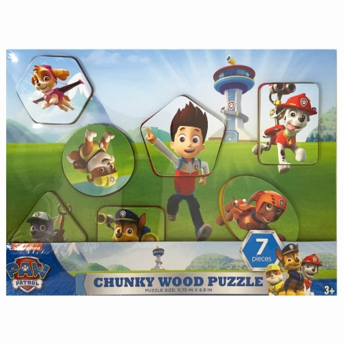 Paw Patrol Chunky Wood Puzzle Style (Assorted Styles) Perspective: back