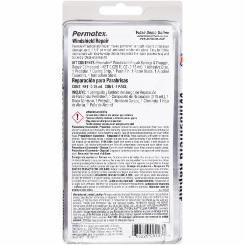 Permatex® Windshield Repair Kit Perspective: back