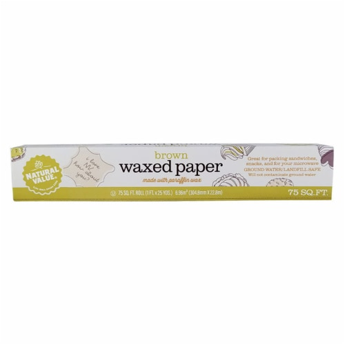 Natural Value Waxed Paper / 75-sq. ft. roll / 6-pack Perspective: back