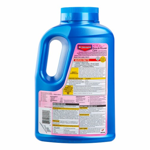Bioadvanced All-In-One Rose & Flower Care Ready-To-Use Granules Perspective: back