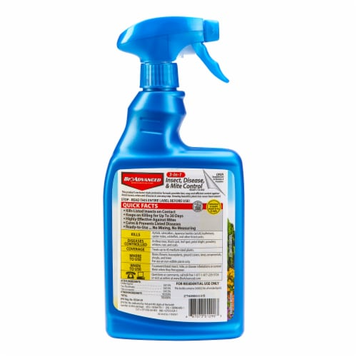 BioAdvanced 3-in-1 Ready-to-Use Insect Disease & Mite Control Spray Perspective: back