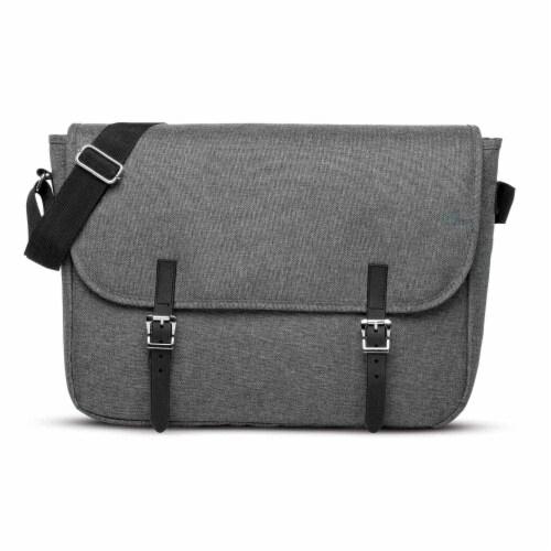 Marin Collection Messenger Bag Grey Perspective: back