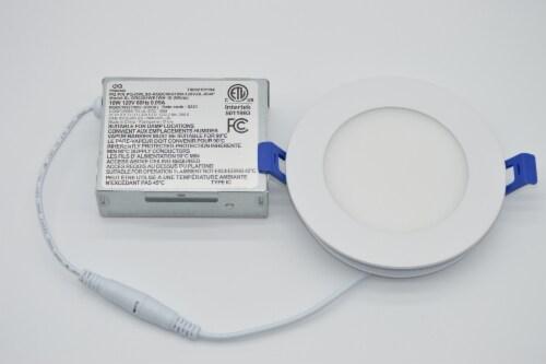 "LED RGB Round 4"" Bluetooth & WI-FI Control 10W 100-277VAC Perspective: back"