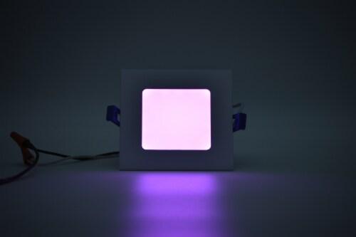 "LED RGB Square 4"" Bluetooth & WI-FI Control 10W 100-277VAC Perspective: back"