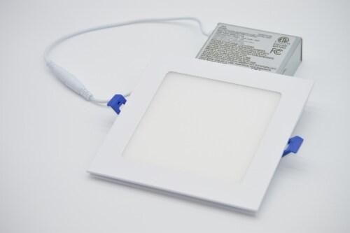 "LED RGB Square 6"" Bluetooth & WI-FI Control 12W 100-277VAC Perspective: back"