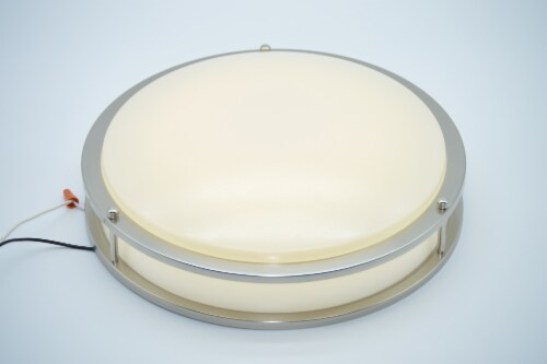 """LED RGB Round Ceiling Light 14"""" Bluetooth & WI-FI Control 20W 120-277V Perspective: back"""