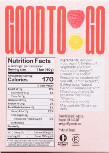 Good To Go Raspberry Lemon Soft Baked Keto Snack Bars Perspective: back