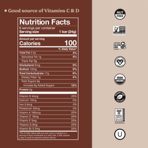 Made Good® Organic Chocolate Chip Granola Bars Perspective: back
