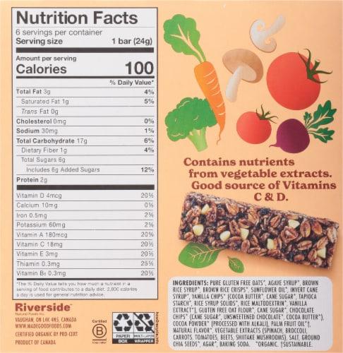 MadeGood™ Cookies and Creme Granola Bars Perspective: back