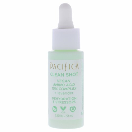 Clean Shot Vegan Amino Acid 10 Percent Complex by Pacifica for Unisex - 0.8 oz Serum Perspective: back