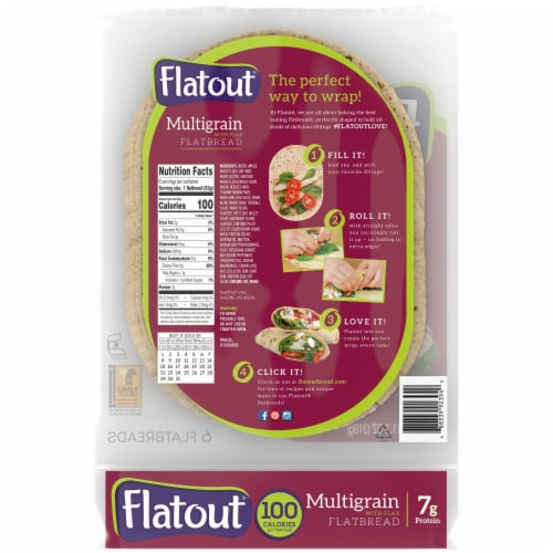 Flatout Multigrain with Flax Flatbread 6 Count Perspective: back