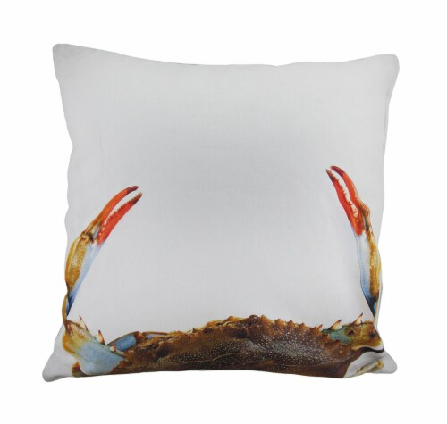 18 in. Sushi Roll and Crab Decorative Throw Pillow Perspective: back