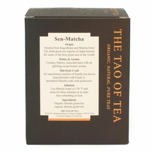 The Tao of Tea Organic Sen-Matcha Green Tea Bags Perspective: back