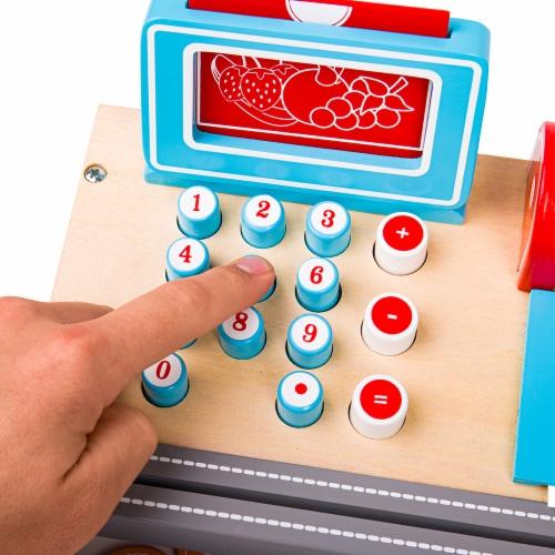 Bigjigs Toys BJTBJ468 Shopping Til with Scanner Perspective: back