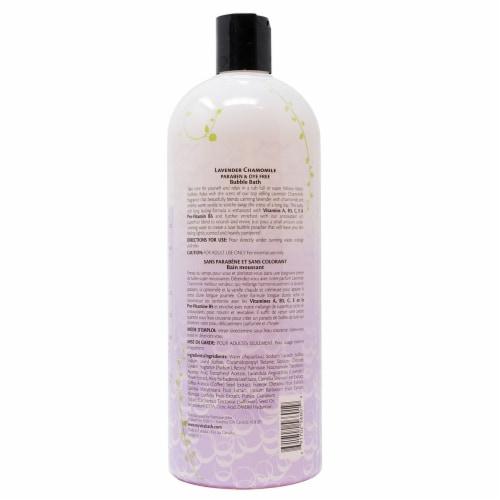 Vitabath Lavender Chamomile Bubble Bath Perspective: back