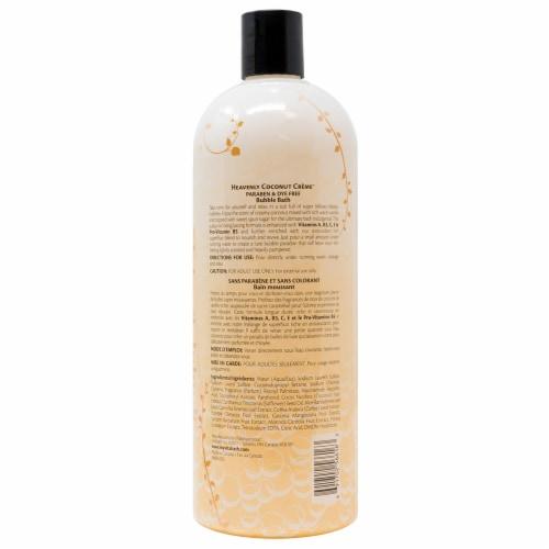 Vitabath Heavenly Coconut Creme Bubble Bath Perspective: back