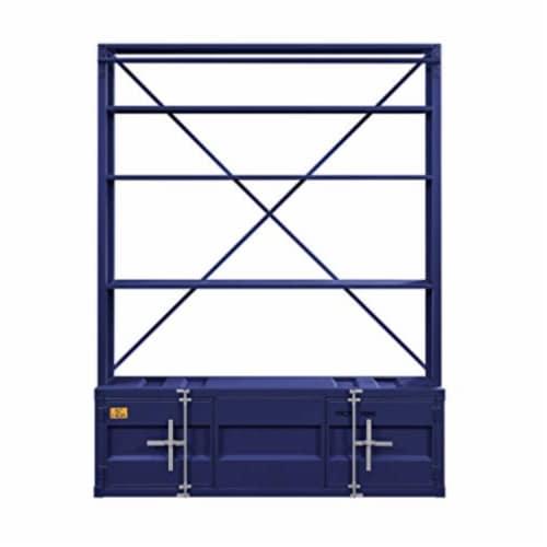 Ergode Bookshelf & Ladder Blue Perspective: back